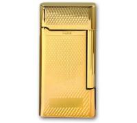 "MF-191-08 Зажигалка ""Pierre Cardin"" газовая кремниевая, сплав цинка, золото с насечкой, 3,5х0,9х6,9 см"