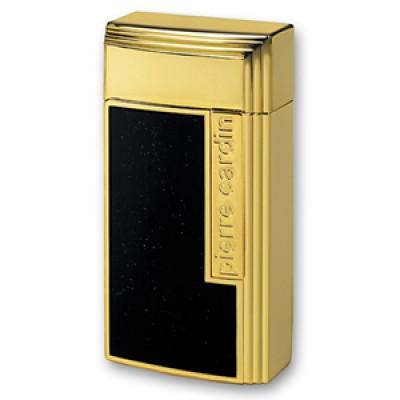 """MF-210-03 Зажигалка """"Pierre Cardin"""" для сигар, газовая турбо, цвет золотой/черный лак, 3.5х1.6х7 см"""