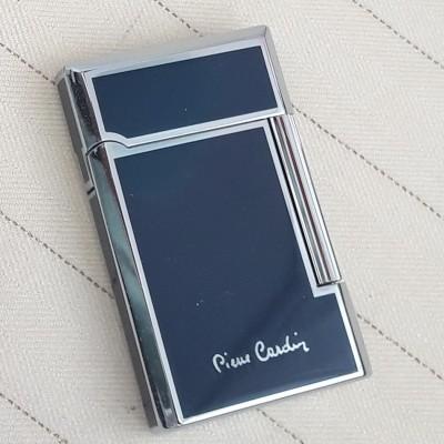 """MF-28-02 Зажигалка """"Pierre Cardin"""" газовая кремниевая, хром/ темно-синий лак, 3,7х1,1х6 см"""