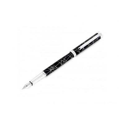"""PC1027FP Перьевая ручка Pierre Cardin """"Evolution"""", корпус латунь и черный лак, перо - сталь с позолотой 18К"""