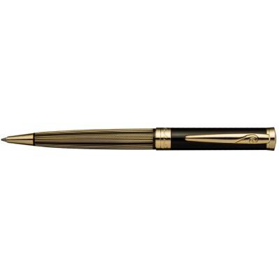 PC0212BP Шариковая ручка Pierre Cardin, черный лак/латунь с позолотой
