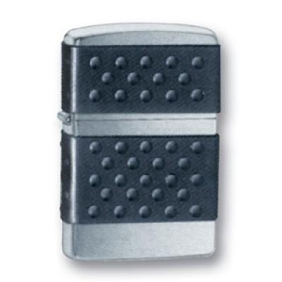 200 ZP Зажигалка Zippo широкая, Black Zip Guard Brushed Chrome