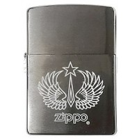 200 Wings Star Зажигалка ZIPPO широкая, Brushed Chrome
