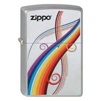 2000701 Зажигалка Zippo широкая, Zippo Rainbow 205
