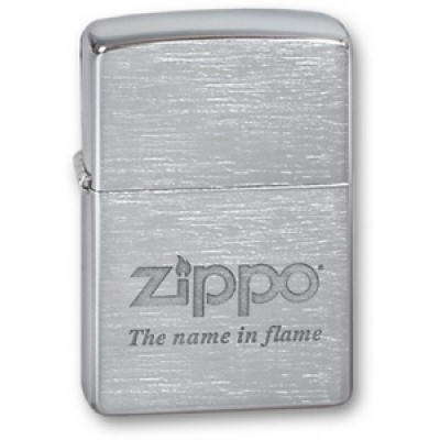 200 The Name in flame Зажигалка Zippo широкая
