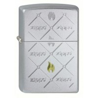 205 Zippos Зажигалка ZIPPO широкая, Satin Chrome
