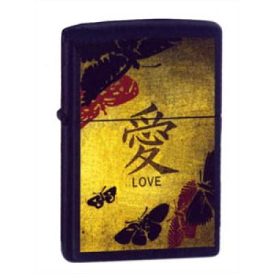 20839 Зажигалка Zippo широкая, Love
