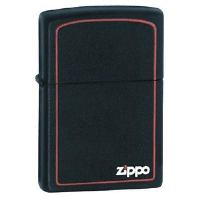 218ZB Зажигалка Zippo широкая, Black Matte w/Zippo, Border
