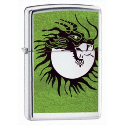 24005 Зажигалка Zippo широкая, Moon Slayer