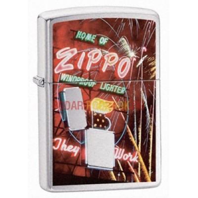 24069 Зажигалка Zippo широкая, Zippo Neon Sign