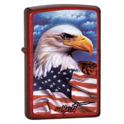 24082 Зажигалка Zippo широкая, Freedom Watch