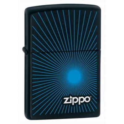 24150 Зажигалка Zippo широкая, Starburst Blue