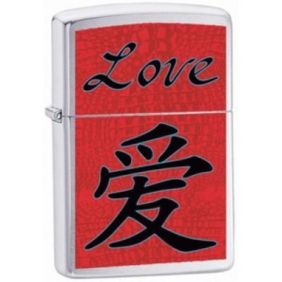 24263 Зажигалка Zippo широкая Love
