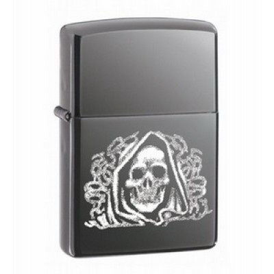 24295 Зажигалка Zippo широкая, The Dark Side Black Ace