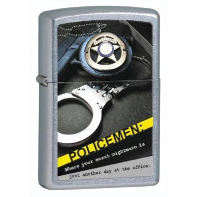 28279 Зажигалка Zippo широкая, Policemen