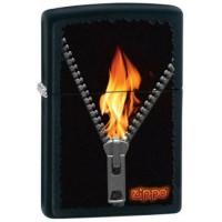 28309 Зажигалка Zippo широкая, Black Matte