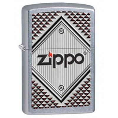28465 Зажигалка Zippo широкая, Red and chrome