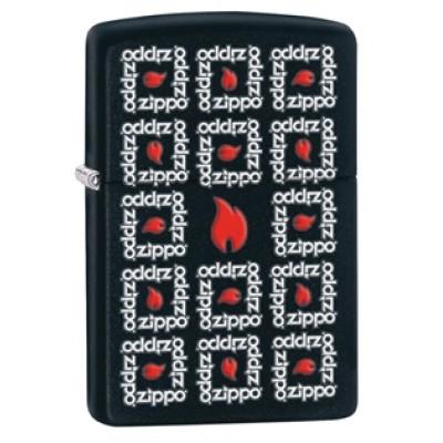 28667 Зажигалка Zippo широкая Zippo Surround, Black Matte