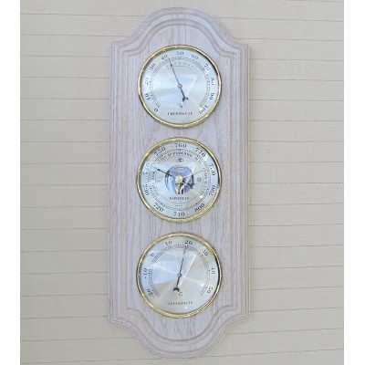 БМ47 белая Метеостанция (барометр, термометр, гигрометр), 360х145 мм
