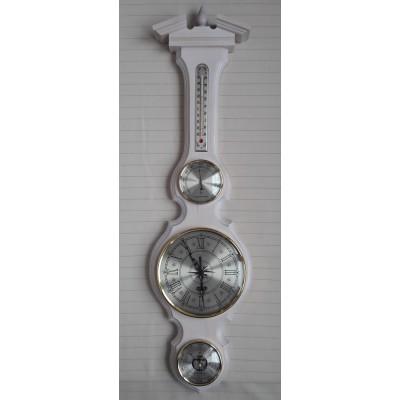 БМ97 белая Метеостанция Смич (часы, барометр, термометр, гигрометр), 800x210 мм