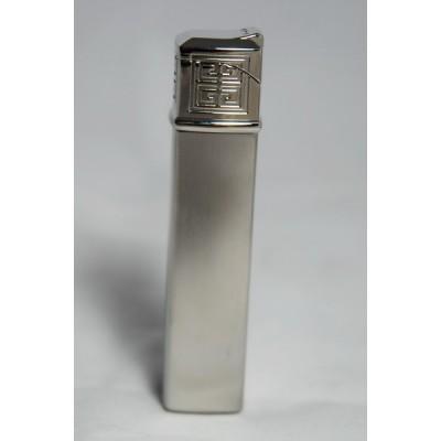 "1601 Зажигалка ""Givenchy"" газовая пьезо, Dia-silver satin, 1,5x1,5x7,5 см"