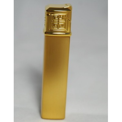 "1602 Зажигалка ""Givenchy"" газовая пьезо, Gold satin, 1,5x1,5x7,5 см"