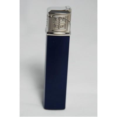 "1613 Зажигалка ""Givenchy"" газовая пьезо, Dia-silver bluer laquer, 1,5x1,5x7,5 см"