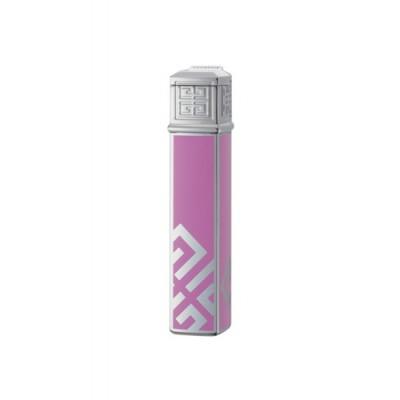 "1621 Зажигалка ""Givenchy"" газовая пьезо, Dia silver Pink Lacquer, 1,5x1,5x7,5 см"