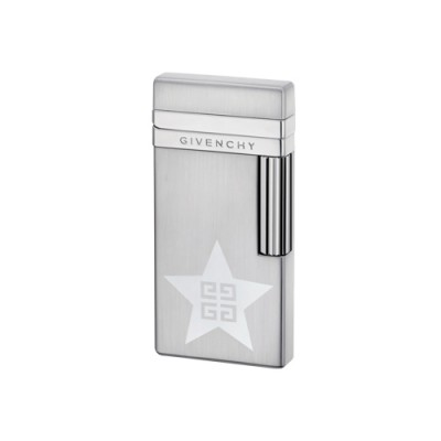 "1723 Зажигалка ""Givenchy"" газовая кремниевая, Dia silver pearl Star 4G, 3,2x0,8x6,5 см"