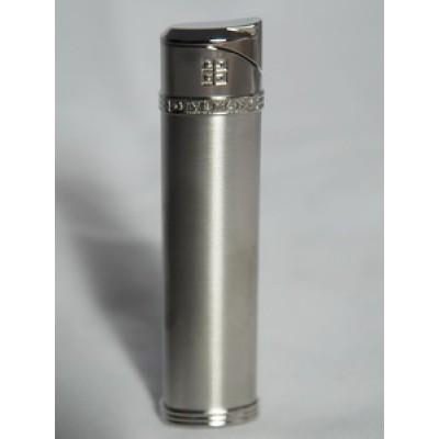 "2802 Зажигалка ""Givenchy"" газовая пьезо, Silver satin, 1,7x0,8x8,0 см"