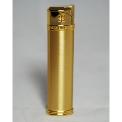"2803 Зажигалка ""Givenchy"" газовая пьезо, Gold satin, 1,7x0,8x8,0 см"