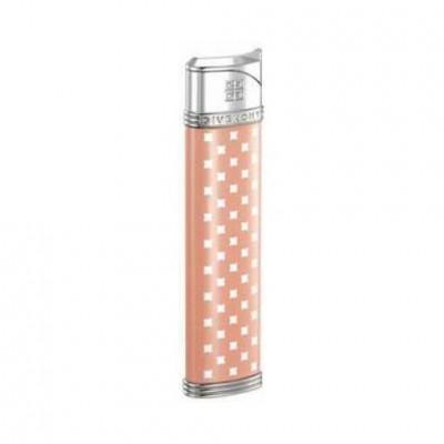 "2809 Зажигалка ""Givenchy"" газовая пьезо, Dia-silver pink lacquer, 1,7x0,8x8,0 см"