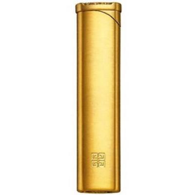 "3201 Зажигалка ""Givenchy"" газовая пьезо, Gold satin, 2,0x0,7x8,0 см"
