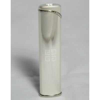 "3606 Зажигалка ""Givenchy"" газовая турбо, Silver stripe, 1,0x2,0x8,4 см"