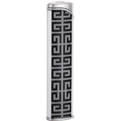 "3608 Зажигалка ""Givenchy"" газовая турбо, Dia-silver white lacquer, 1,0x2,0x8,4 см"