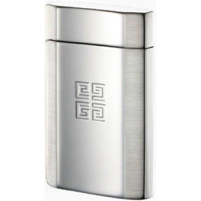 "4201 Зажигалка ""Givenchy"" газовая пьезо, G42 Dia-Silver Combin-n, Shiny/Satin, 3,5x0,9x5,5 см"