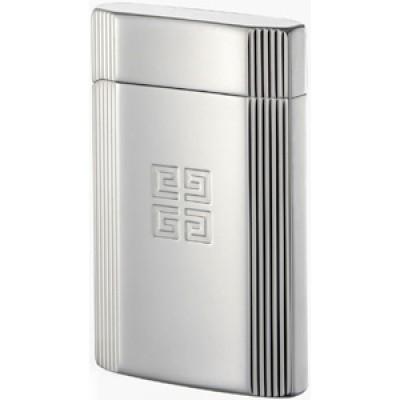 "4205 Зажигалка ""Givenchy"" газовая пьезо, G42 Dia-Silver Side Dia-Cut, 3,5x0,9x5,5 см"