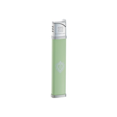 """G35-3523 Зажигалка """"Givenchy"""" газовая пьезо, Lighter Green Lacquer Heart 4G"""