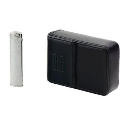 "G36-2010 Зажигалка ""Givenchy"" газовая турбо Dia-silver + чехол для сигарет"