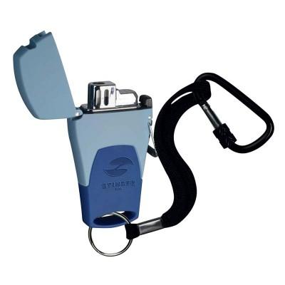 STL-441-MB Зажигалка STINGER газовая Mira, голубой, 41x16x78 мм