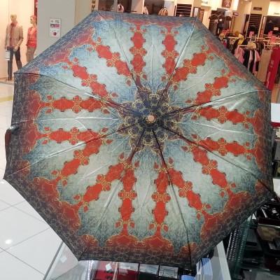 """Зонт """"Три Слона"""" женский №100-3, купол 58 см, (D=103 см), суперавтомат, орнамент"""