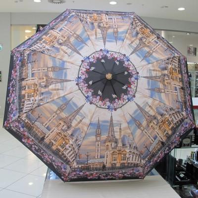 "Зонт ""Три Слона"" женский №101-8, купол D=103 см, суперавтомат Дворец, мост"