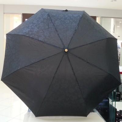 """Зонт """"Три Слона"""" женский №106-B-5, купол D=102 см, 8 спиц, черный, однотонный рисунок цветы"""