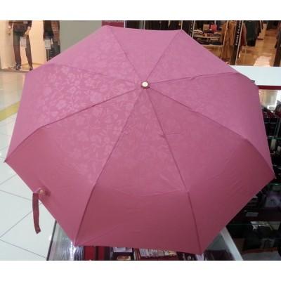 """Зонт """"Три Слона"""" женский №106-B-2, купол D=102 см, 8 спиц, розовый, однотонный рисунок цветы"""