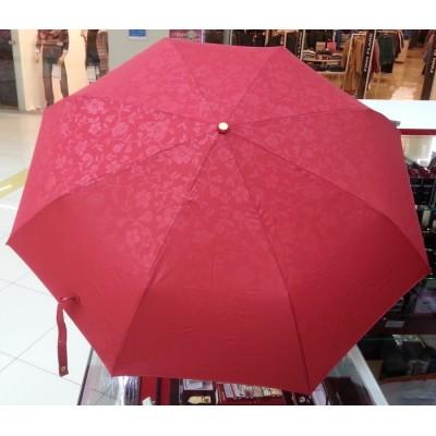 """Зонт """"Три Слона"""" женский №106-B-4, купол D=102 см, 8 спиц, красный, однотонный рисунок цветы"""