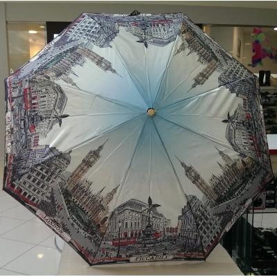 """Зонт """"Три Слона"""" женский №133-7, (легкий 340 грамм), D=103 см, суперавтомат, рисунок Лондон"""