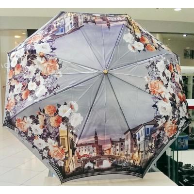 """Зонт """"Три Слона"""" женский №145-4, купол 58 см, 8 спиц, рисунок Исторический город"""