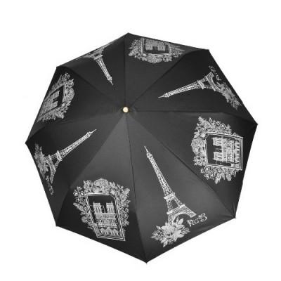 """Зонт """"Три Слона"""" женский №197-Y-1, купол D=103 см, суперавтомат Париж/черный"""