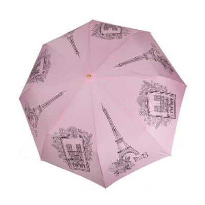 """Зонт """"Три Слона"""" женский №197-Y-4, купол D=103 см, суперавтомат Париж/ розовый"""