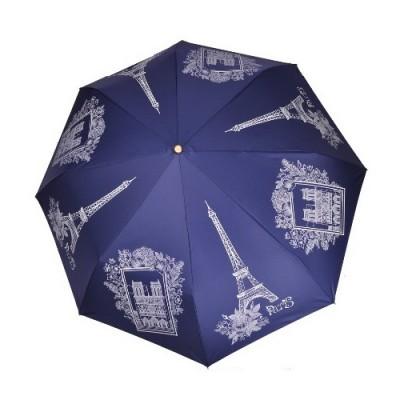 """Зонт """"Три Слона"""" женский №197-Y-5, купол D=103 см, суперавтомат Париж/ синий"""